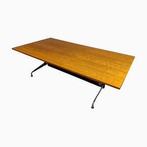 Mesa de comedor o de conferencia de Charles & Ray Eames para Herman Miller, años 80
