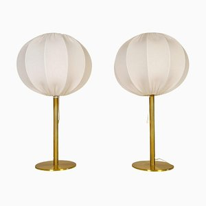 Mid-Century Modern Brass Table Lamps from Luxus, Sweden, 1970s, Set of 2