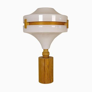 Mid-Century Modern Table Lamp in Pine and Acrylic, Sweden, 1970s