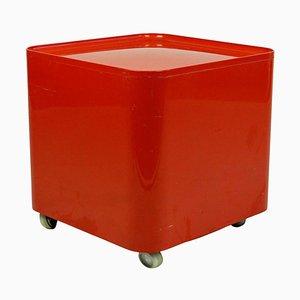 Italienischer Space Age Rollwagen aus rotem Kunststoff von Marcello Siard für Coll. Longato