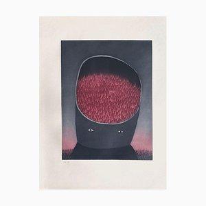 Jean Michel Folon, Les Ruines Circulaires II, 1974, Aguatinta sobre papel Arches