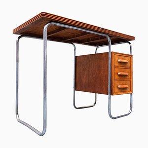 Kleiner italienischer Mid-Century Schreibtisch aus Holz von Antonio Ferretti, 1950er