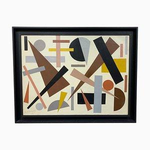 Geometric Abstraction Öl auf Leinwand von Armilde Dupont, Belgien, 1970er