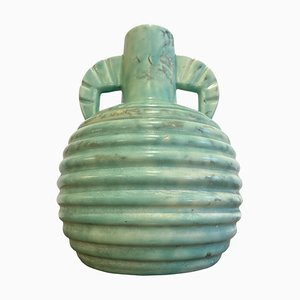 Bleu Keramikvase von Boch, 1920er