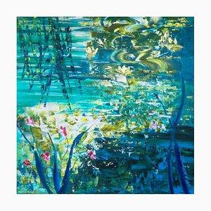 Wasserlilien 112, 2021, Acryl auf Leinen