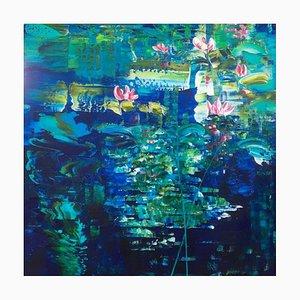 Wasserlilien 114, 2021, Acryl auf Leinen
