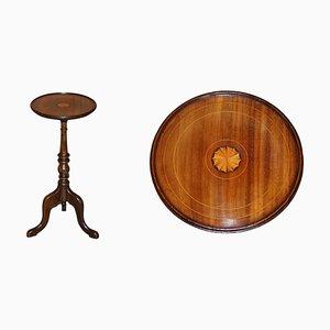 Englischer Sheraton Revival Hartholz Dreibein Tisch