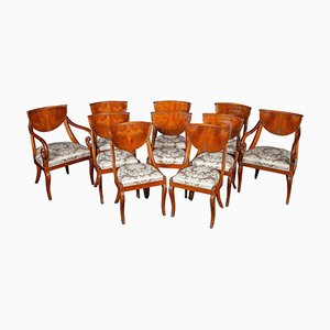 Italian Dining Chairs Including 2 Armchairs, 1790s, Set of 10