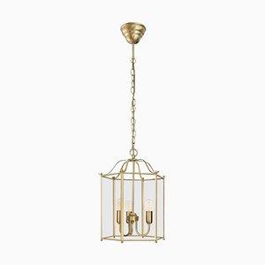 Lámpara de techo Glimminge de latón con tres brazos de Konsthantverk