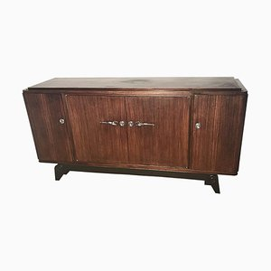 Art Deco Rosewood Sideboard on Foot, France, 1920s
