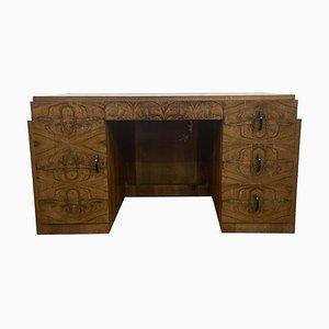 Parisian Art Deco Walnut Desk from Villa Victor Hugo, 1920s