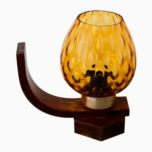 Wooden Table Lamp from Drevo Humpolec, 1960s