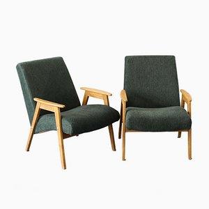 Grüne Mid-Century Sessel, UdSSR, 1970er, 2er Set
