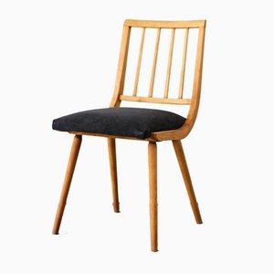 Mid-Century Dark Blue Dining Chairs, 1960s, Set of 6