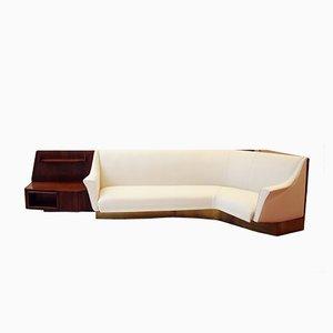 Geschwungenes Vintage Conversation Sofa mit Regalfläche, 1940er