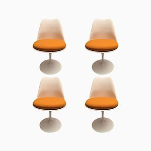 Orange Tulip Chairs by Eero Saarinen for Knoll, 1970s, Set of 4