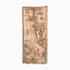 Tapiz de jacquard francés antiguo pequeño estilo Aubusson