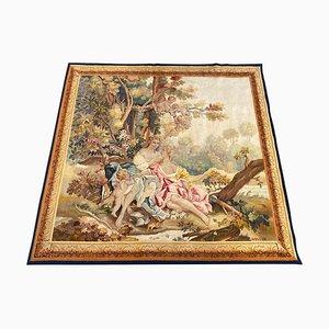 Tapiz Aubusson francés antiguo de seda