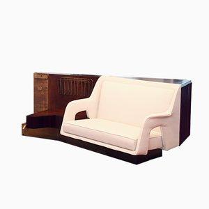 Mahogany Sofa Room Divider, 1940s