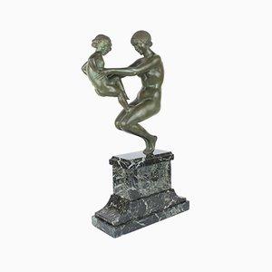 Escultura francesa Art Déco de bronce de Pierre Le Faguays, 1925