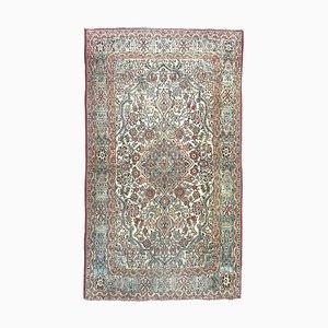 Vintage Qom Teppich mit Blumenmuster