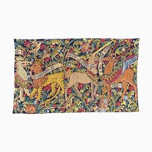 Tapiz francés estilo Aubusson de jacquard con diseño medieval