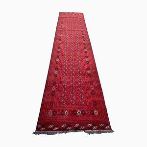 Turkmenischer Vintage Afghan Bokhara Design Läufer