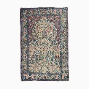 Antiker floraler Kerman Teppich