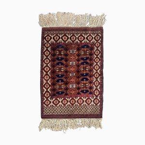 Vintage turkmenischer Vintage Seidenteppich