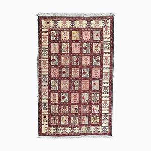 Silk Verneh Soumak Embroidered Flat Rug