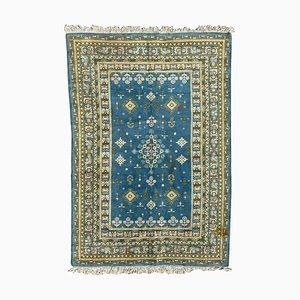 Blauer tunesischer Vintage Teppich
