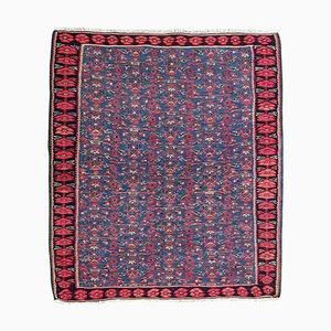 Vintage Senneh Kilim Flat Rug