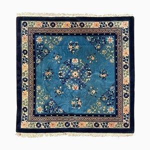 Quadratischer chinesischer Vintage Peking Teppich