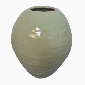 Jarrón de suelo alemán grande de cerámica, años 60