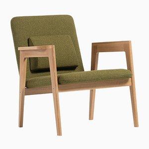 Butaca danesa verde de Massana / Tremoleda para Mobles114