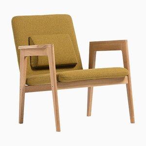 Dänischer Sessel in Senfgelb von Massana / Tremoleda für Mobles114