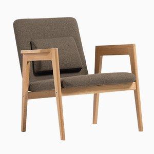 Dänischer Brauner Armlehnstuhl von Massana / Tremoleda für Mobles114