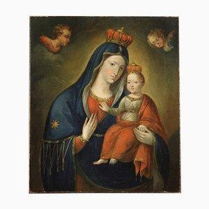 Jungfrau mit Kind, 19. Jh., Öl auf Leinwand, gerahmt