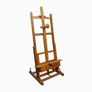Wooden Easel, France, Early 20th Century