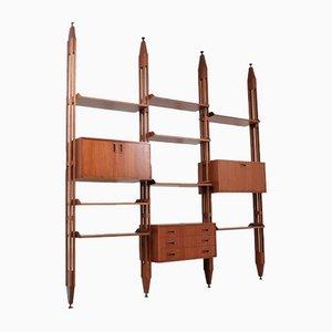 Mid-Century Modular Teak Bookcase and Wall Unit, 1960