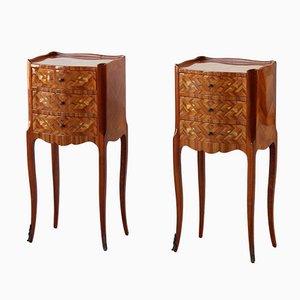 Tulipwood Bedside Tables, Set of 2