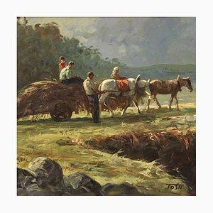 Riccardo Tosti, Bukolische Landschaft, Öl auf Leinwand, Gerahmt
