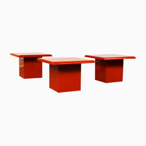 Space Age Sheraton Bedside Tables, 1970s, Set of 3