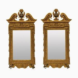 Espejos ingleses estilo georgiano. Juego de 2