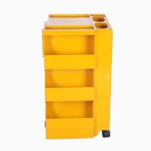 Carrito de almacenamiento Boby era espacial en amarillo de Joe Colombo para Bieffeplast, años 70