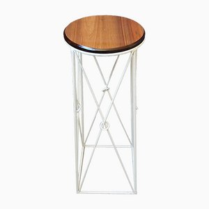 Mid-Century Plant Stand in Iron and Wood