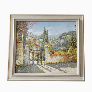 Landscape Painting, 1950s, Oil on Canvas, Framed