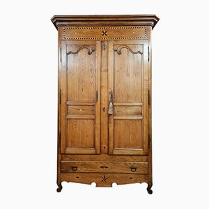 Louis XV Cabinet in Blond Oak and Marquetry, 1750s