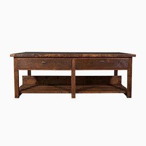 Großer antiker viktorianischer Tisch oder Kücheninsel aus Kiefernholz