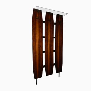 Coat Rack with Glass Shelf